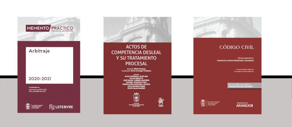 Disponibles tres nuevas publicaciones para facilitar el ejercicio profesional: Memento Arbitraje, Actos de competencia desleal y Código Civil con jurisprudencia